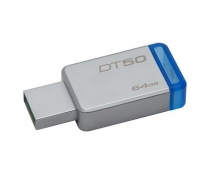 64 GB USB 3.1 DT50/64G METAL MAVİ KINGSTON