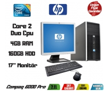 HP Compaq 6000Pro Core2 Duo 3.0GHz 4GB Ram 160GB Hdd 17''Monitör