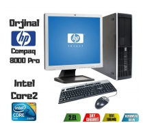 HP Compaq 8000PRO Core 2 Duo 2GB DDR3 RAM 160GB HDD 17'' Monitör