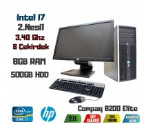 HP Compaq 8200 İntel İ7-2600 8GB RAM+500GB HDD+24'' Monitör