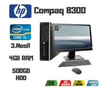 HP Compaq 8300 Core i5-3470 CPU+4GB RAM+500GB HDD+19'' Monitör