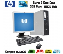 HP Compaq DC5800 Core 2 Duo 2Gb Ram 80Gb Hdd 17'' Monitör Takım