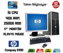 HP Compaq Elite 8100 İ5 CPU + 4GB RAM + 250GB HDD 17'' Monitör