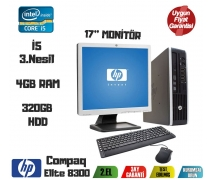 HP Compaq Elite 8300 Ultra Slim i5-3470 4GB RAM 320GB HDD 17'' Monitör