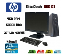 HP ELITEDESK 800 G1 i5-4570 CPU+500GB HDD+4GB RAM 20'' LED MONİTÖR