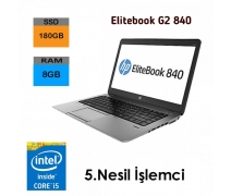 HP EliteBook 840 G2 İntel i5-5.Nesil 8GB RAM 180GB SSD Notebook