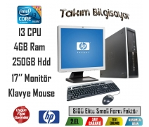 Hp 8100 Elite Form Factor İ3 CPU 4GB RAM 250GB HDD 17'' Monitör
