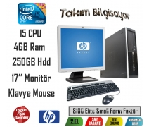 Hp 8100 Elite Form Factor İ5 CPU 4GB RAM 250GB HDD 17'' Monitör