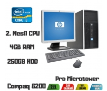 Hp Compaq 6200 İ3-2100 3,10Ghz 4Gb Ram 250Gb Hdd 17'' Monitör