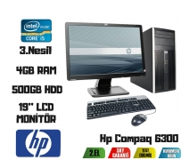 Hp Compaq 6300 İ5-3470 3.20 Ghz+4GB RAM+500GB HDD 19'' Monitör