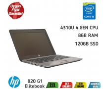 Hp Elitebook 820 G1 Intel Core İ5-4310U 8GB 120GB SSD Notebook