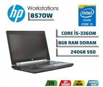 Hp Elitebook Workstation 8570W İ5-3360M 8GB RAM 240GB SSD K1000