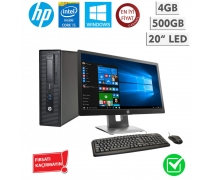 "Hp Elitedesk 800 G1 i5-4570 4GB 500GB 20"" Led Monitör Takım Pc"