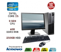 LENOVO THİNKCENTRE İ5 3.NESİL 4GB DDR3 RAM 250GB HDD 19'' MONİTR