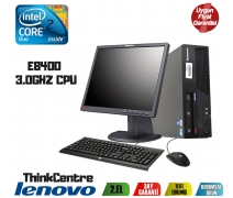 Lenovo ThinkCentre Core2 E8400 2Gb Ram 160Gb Hdd 17'' Monitör