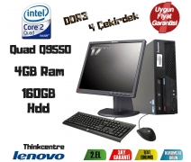 Lenovo ThinkCentre İntelCore 2 Quad 4Gb Ram 160Gb Hdd 17'' Takım