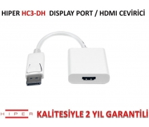 HIPER HC3-DH DİSPLAY PORT/HDMI ÇEVİRİCİ (KLİPSLİ)