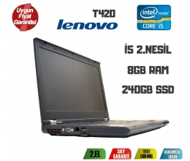 "Lenovo Thinkpad T420 İntel İ5-2520M 8GB 240GB SSD 14.1"" Notebook"