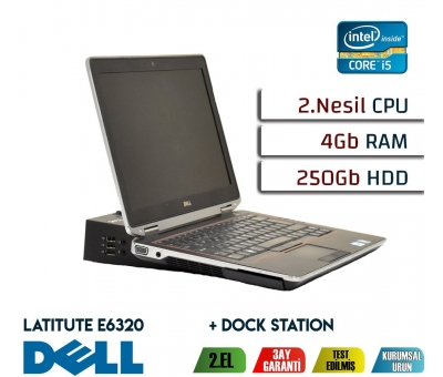 DELL LATITUDE E6320 İNTEL İ5 2.NESİL İŞLEMCİ 4GB RAM 250GB HDD NOTEBOOK