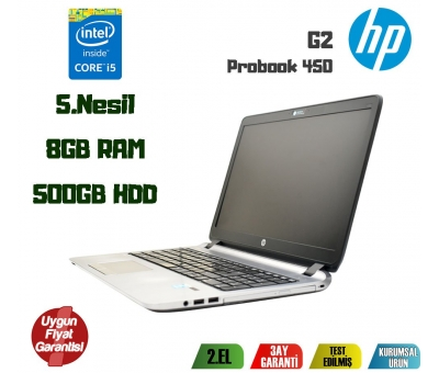 HP 450 G2 İntel Core i5-5200U 8GB 500GB HDD 15.6'' Notebook