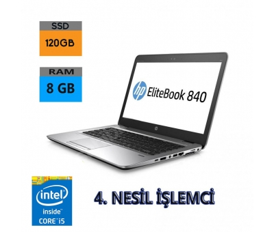 HP EliteBook 840 G1 Core i5-4200U 8GB RAM+HDD+120GB SSD NOTEBOOK