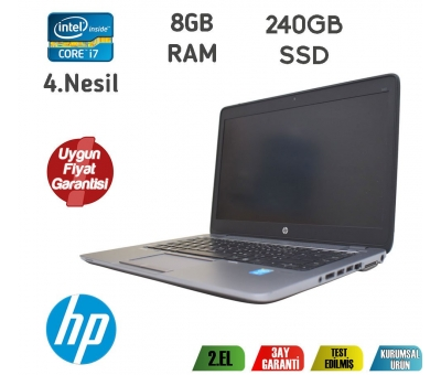HP EliteBook 840 G1 Core i7-4200U 8GB RAM+HDD+240GB SSD NOTEBOOK