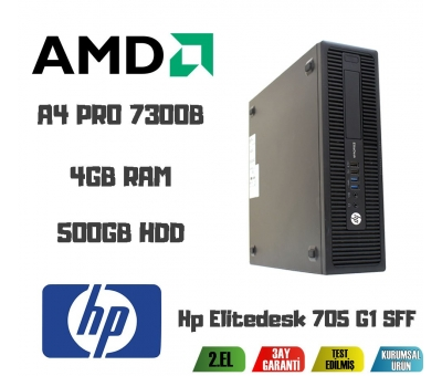 Hp Elitedesk 705 G1 SFF AMD A4 PRO 7300B CPU+4GB RAM+500GB HDD