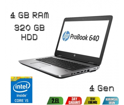 Hp Probook 640 İ5-4200M 4.Nesil 4GB Ram 320GB Hdd Notebook