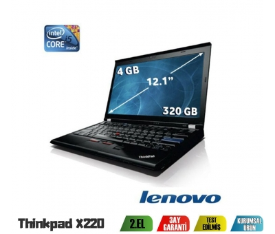 Lenovo Thinkpad X220 i5-2520M 2.Nesil 4Gb Ram 320Gb Hdd Notebook