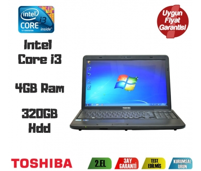 Toshiba Satellite C650 İntel Core İ3 4Gb Ram 320Gb Hdd 15,6'' Notebook