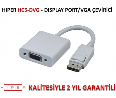 HIPER HC5-DVG DİSPLAY PORT/VGA ÇEVİRİCİ (KLİPSLİ)