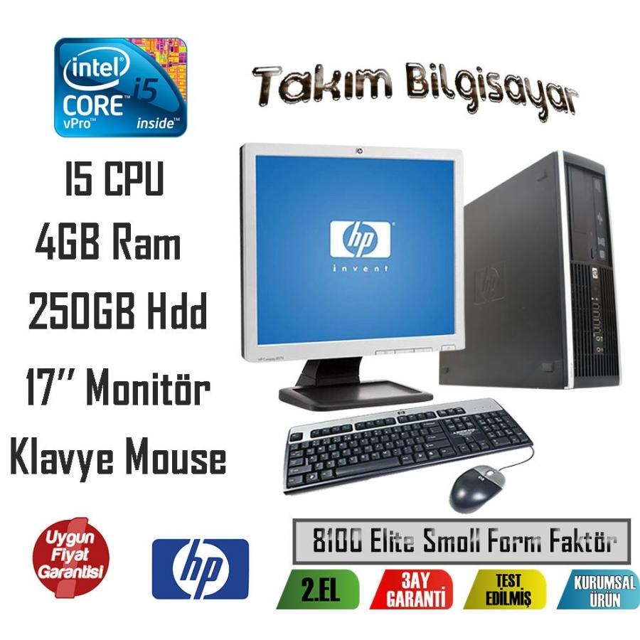 02a38f279e69a Hp 8100 Elite Form Factor İ5 CPU 4GB RAM 250GB HDD 17'' Monitör En ...